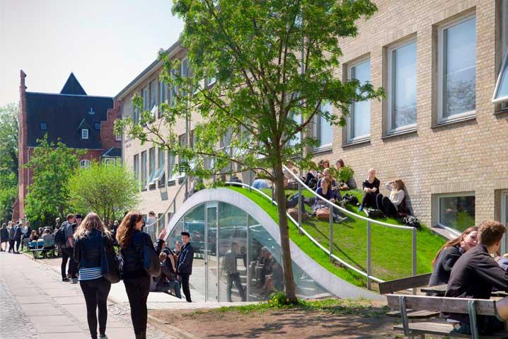 Παιδικο Γυμναστηριο με βιοκλιματικη αρχιτεκτονικη, Gammel Hellerup, BJARKE INGELS GROUP, Δανια