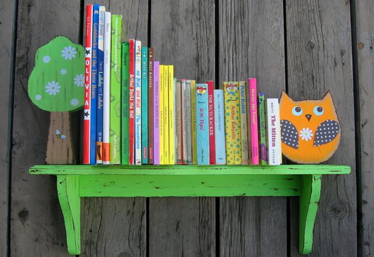 Έξυπνες ιδέες για βιβλιοθήκες σε μικρά παιδικά δωμάτια